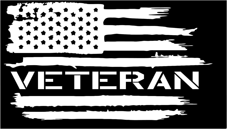 American flag Veteran Army USA Military Soldier vinyl die cut sticker decal Pledge of Allegiance Navy Marines USMC Air Force
