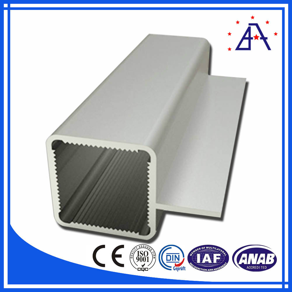 Anodized Aluminium Extrusion Square Shaped Tubes 6063