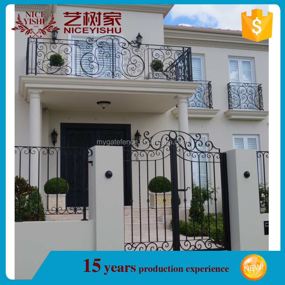 New 2016 aliaba.com european low price indoor wrought iron window balcony railing /luxury ornamental aluminum balcony balustrade