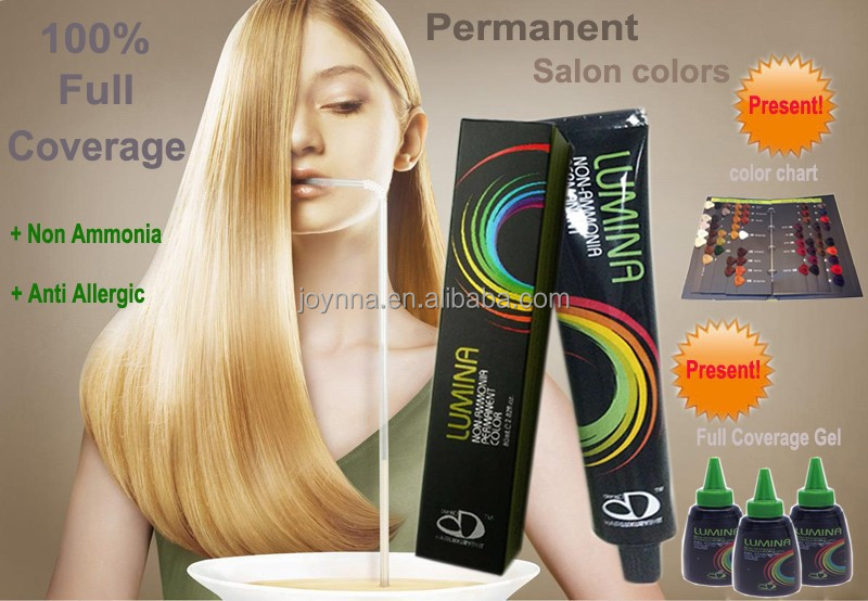 Full coverage professional ammonia + allergic free hair dye color cream