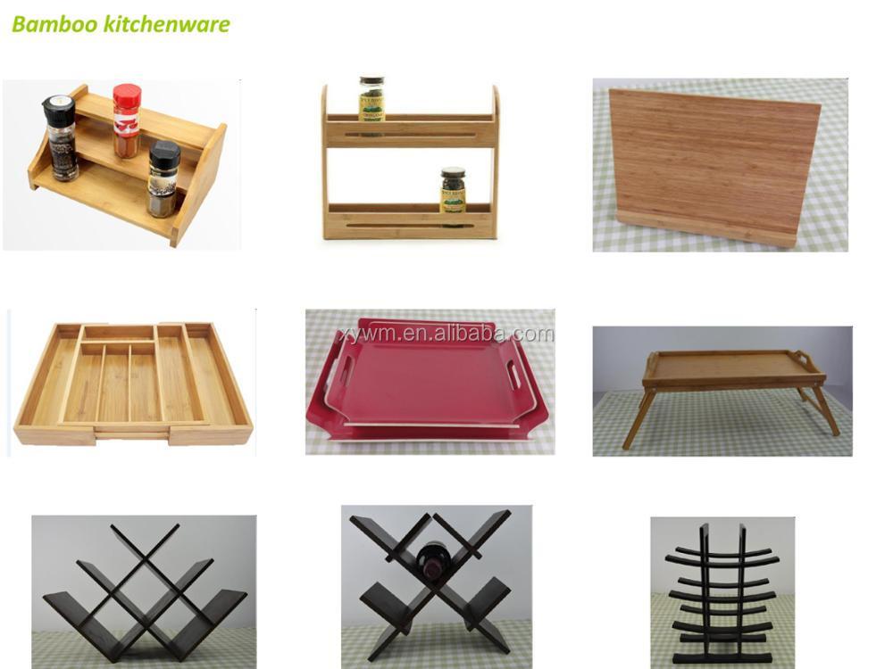 Natürlicher Bambus 4-Tier Desk Book Shelf Organizer
