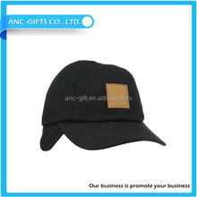 Custom Cheap Cotton Baseball Cap With Ear Flaps Foldable Baseball Cap And Hat
