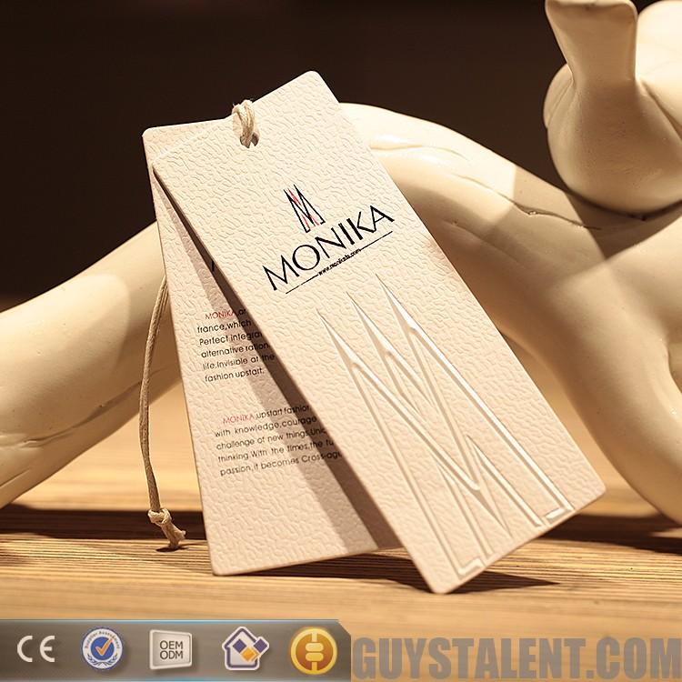 custom luxury hang tag paper hangtag for garment