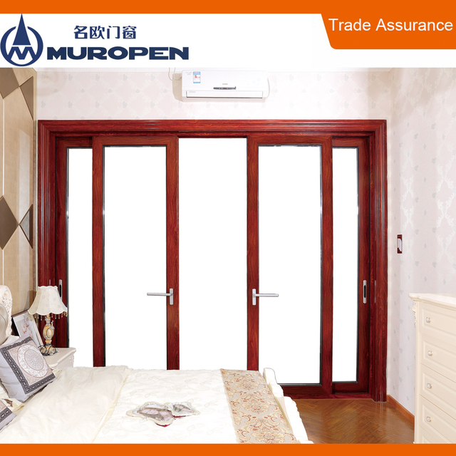 Modern Bamboo Sliding Door Aluminum Diy Interior Magnetic Sliding Door