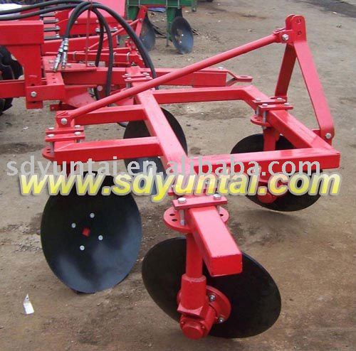 tractor mounted two rows 4 discs disc ridger