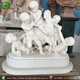 White Marble Nud Little Boy Garden Statues