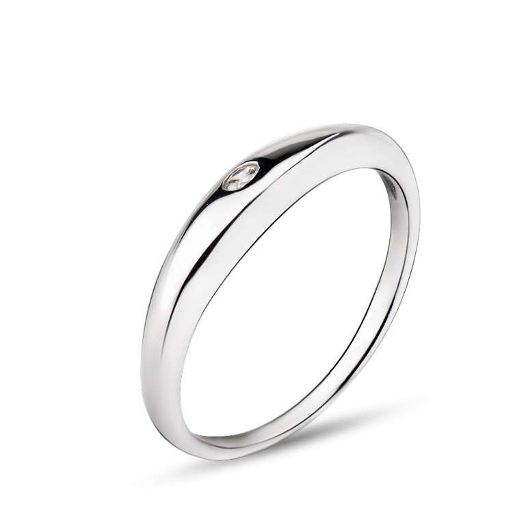 Simple Plain Band 925 Sterling Silver Finger Ring