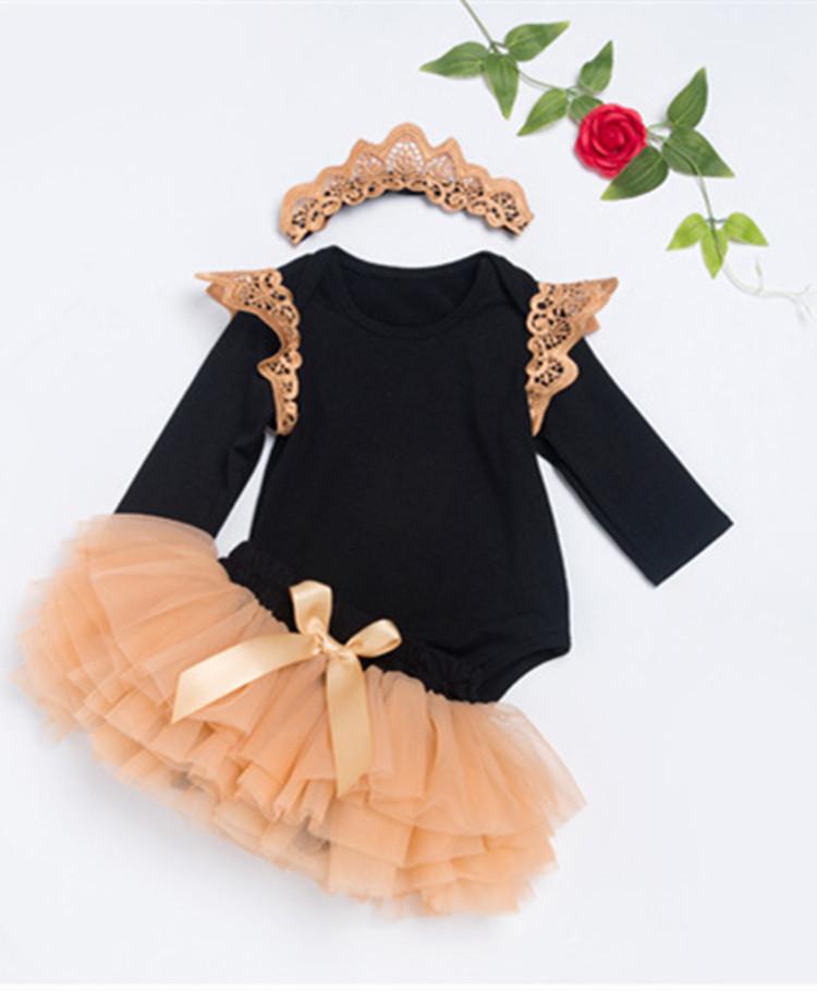 خريف بنات فستان مجموعة لطيف بالجملة ملابس الأطفال حديثي الولادة