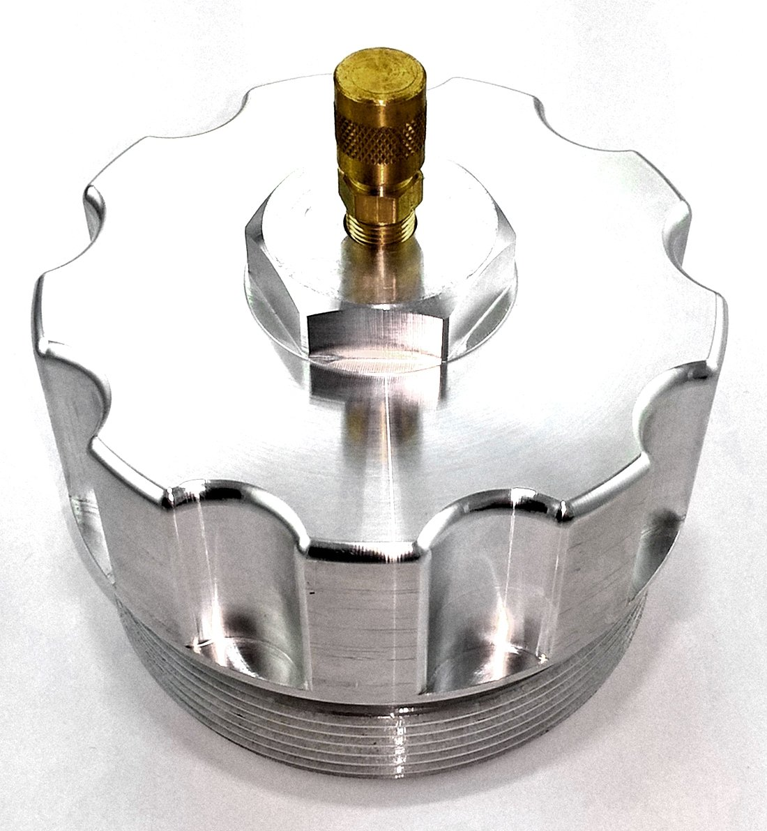 Get Quotations · TamerX Billet Aluminum Oil Filter Cap w/ Pressure Test  Port-Ford Powerstroke 6.0L