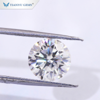 Tianyu Gem Finest Cut D E F VVS1 Clarity Round Thick 8 Heart and Arrow Moissanite With Best Factory Price