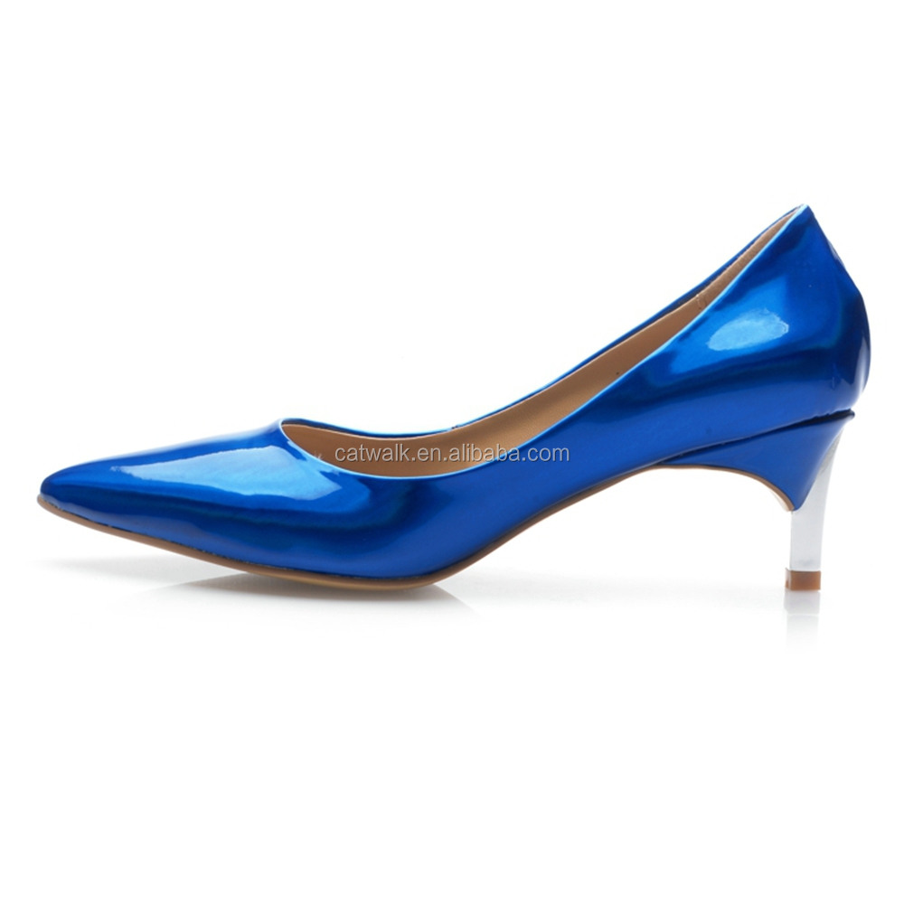 Royal Blue Shoes Low Heel