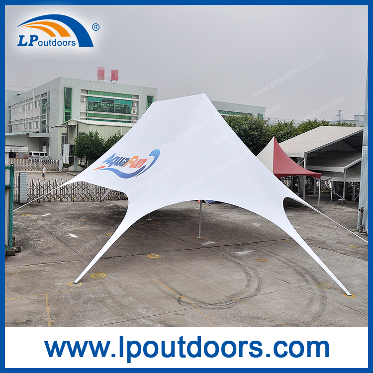 Outdoor large double peak star shade red bull star tent