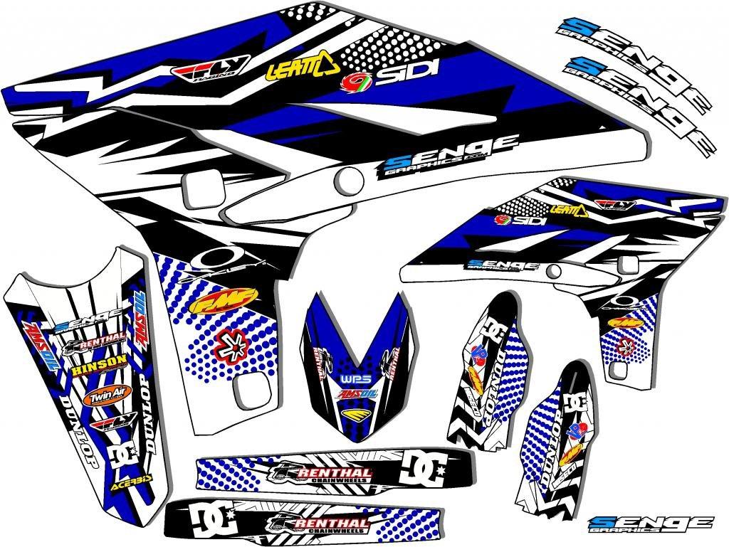 Space Kadet CUSTOM Complete kit 2000-2007 TTR 125 Senge Graphics Compatible with Yamaha
