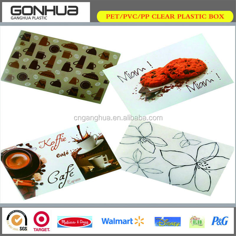 Fashion Hot Promotional Laser Heat Resistant Custom PP Placemat