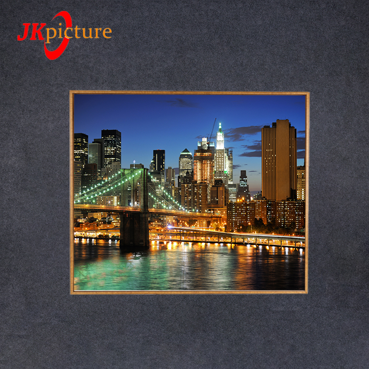Beautiful city night view wall pictures home decor beautiful oil paintings LED Canvas Picture