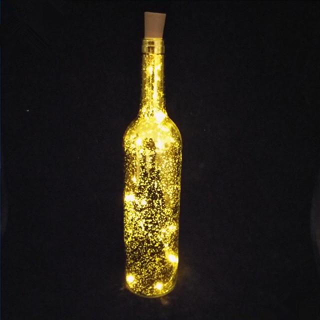 卸売750ミリリットル付きガラスのワインボトルソーラーledが点灯し、 木の蓋