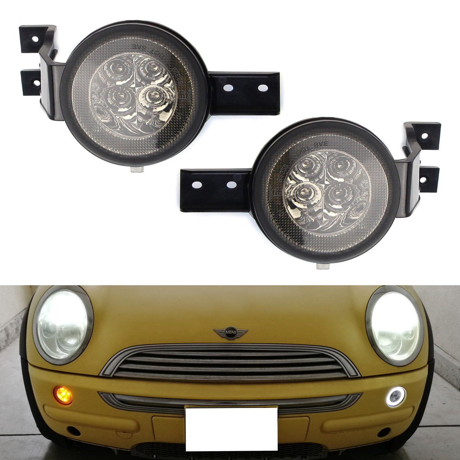 OEM Fit Black Clear Side Marker with Amber LED Lamp for MINI COOPER MK II R56 2007~2013