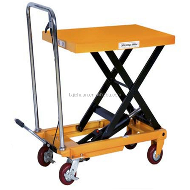 High Quality 1 Ton Hydraulic Scissor Lift Table,Mechanical Lift Table In  FAVORABLE Price