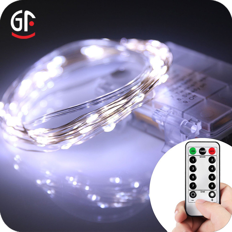 Easter Product LED Copper Wire High Quality Remote Battery Battery String Lights
