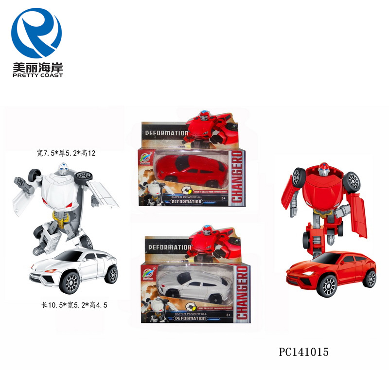 Mini transform robot DIY car deformation robot toys