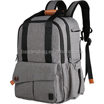 multi function baby diaper bag backpack with stroller straps gray back bag buy baby diaper bag. Black Bedroom Furniture Sets. Home Design Ideas