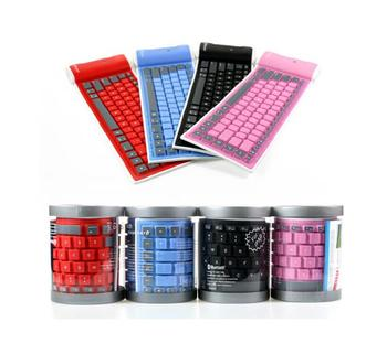 Silicone Ultra Slim English Arabic good performance pc tablet soft wireless bluetooth roll waterproof Keyboard