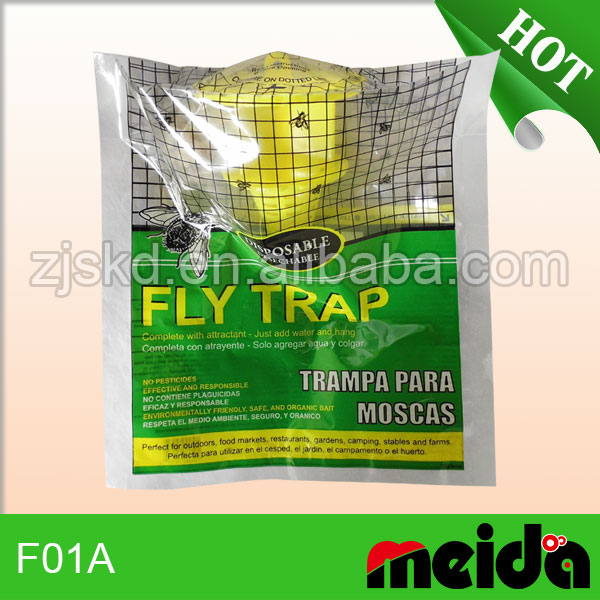 Durable Fly Trap pp bag with posion free bait gel no chemical