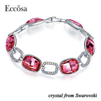 New Colorful Gemstones Infinity Bracelet Jewelry Made with Crystals from Swarovski 925Sterling Silver Bracelet