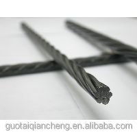 High tensile 12.7mm prestressed concrete steel strand price / pc strand manufacturer
