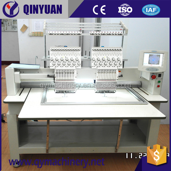 Docuble head P Flat Embroidery, C Garment 2 head Embroider T Cap Embroidery machine