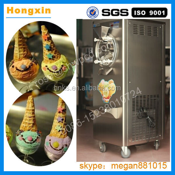 Stainless steel commercial hard ice cream machine/commercial hard serve ice cream makeing machine/hard ice cream machine price