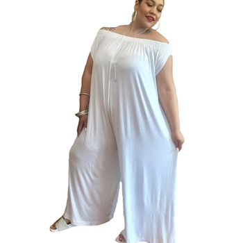 2018 Women Summer Loose African Jumpsuit Off Shoulder Red Black White Female Jumpsuit For Fat Plus Size Sexy Plain R Buy Sexy Fat Womenplus