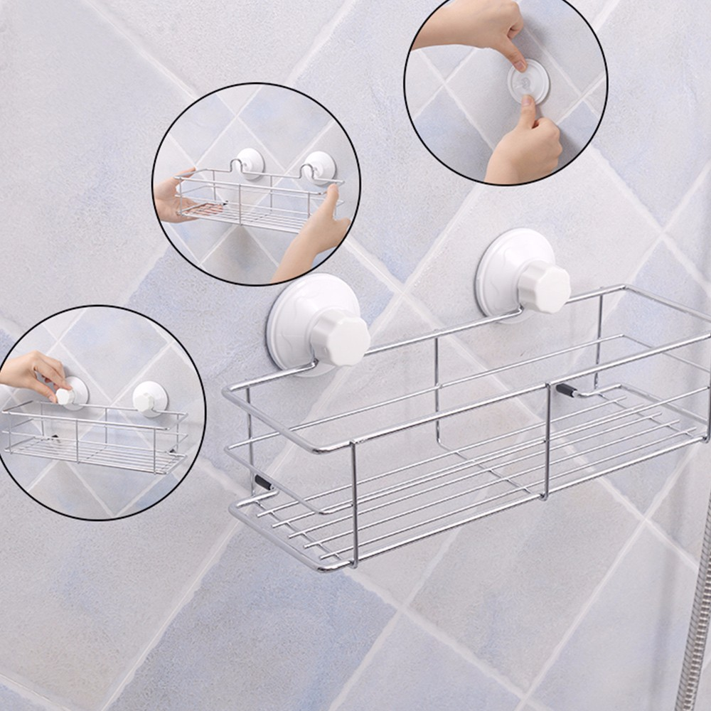 Bathroom And Kitchen Accessories Suction Cup Kitchen Metal Storage