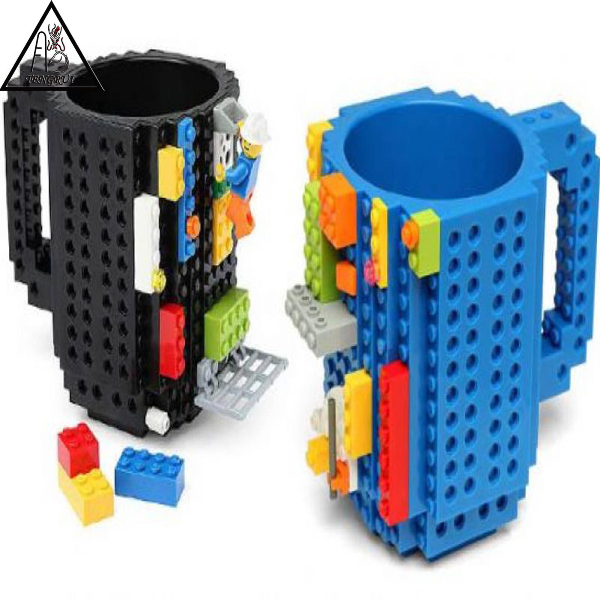 Build On Brick Mug Lego Type Creative Diy Building Blocks