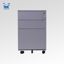 Commercial furniture steel file cabinet / mobile pedestal 3 drawers office workstation