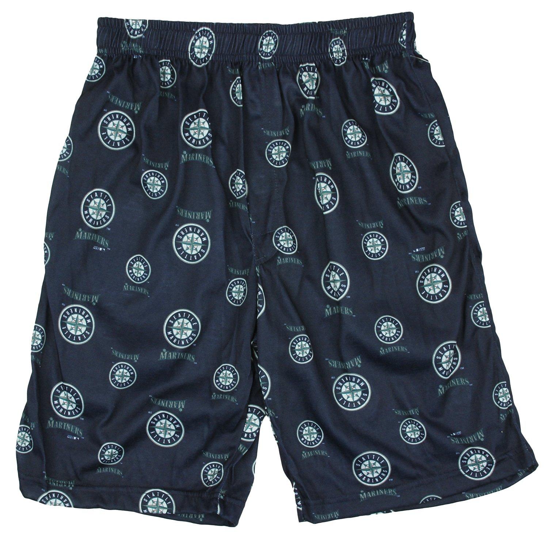 Seattle Mariners MLB Little Boys and Big Boys Lounge Shorts - Navy Blue