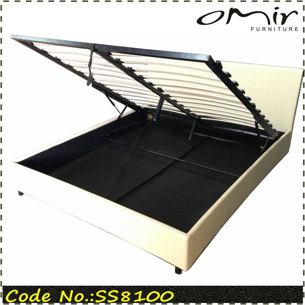 Wood Storage Bed Hydraulic Lift : Hydraulic lift up storage bed bedroom sets in malaysia