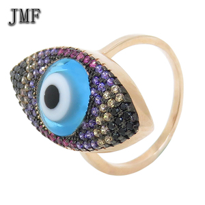china jewelry wholesale cz muslim ring blue turkey evil eye ring