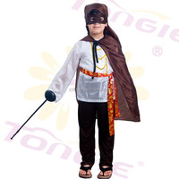 Wholesale carnival cosplay costumes Kid super hero costume with cape in cheap price