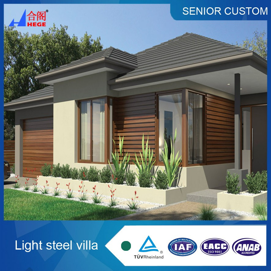 Luxury light steel structure prefab villa for sale