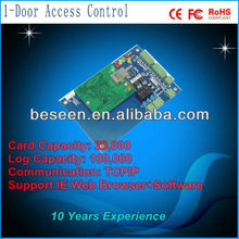 IE/Web connection stand alone Single Door Access Controller board with double direction for access control system