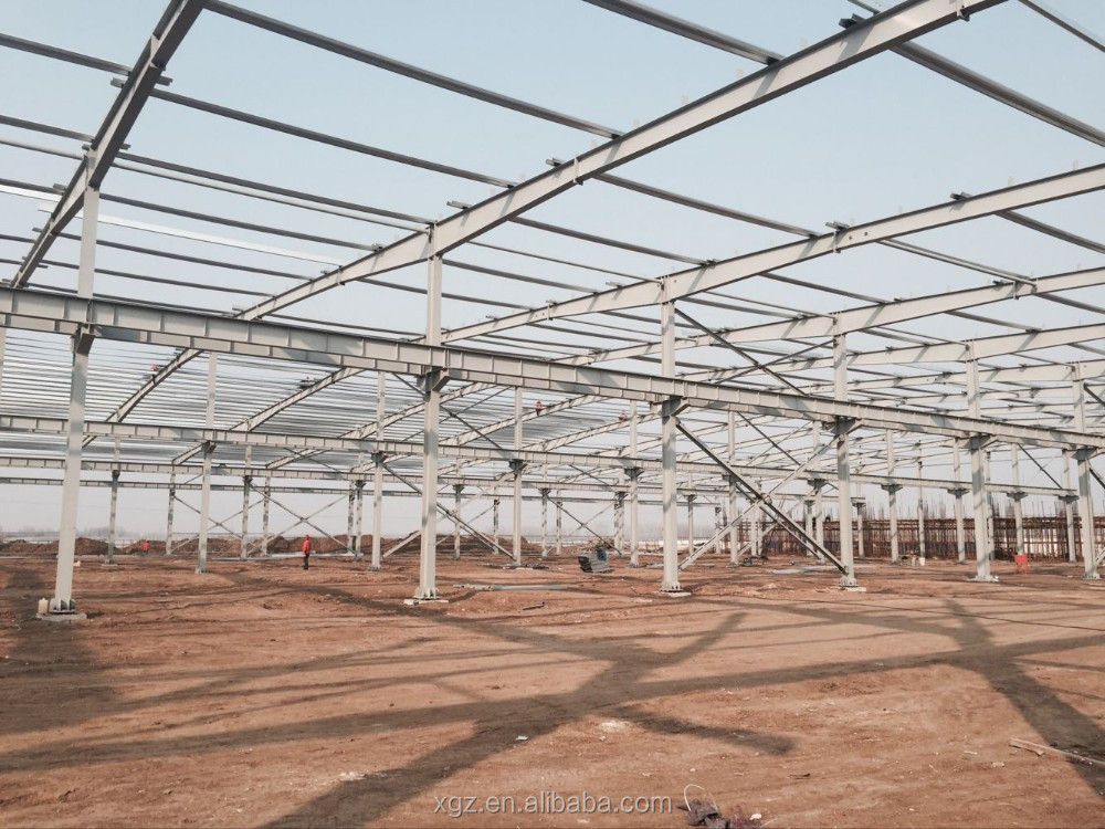 Low cost steel structure prefabricated warehouse