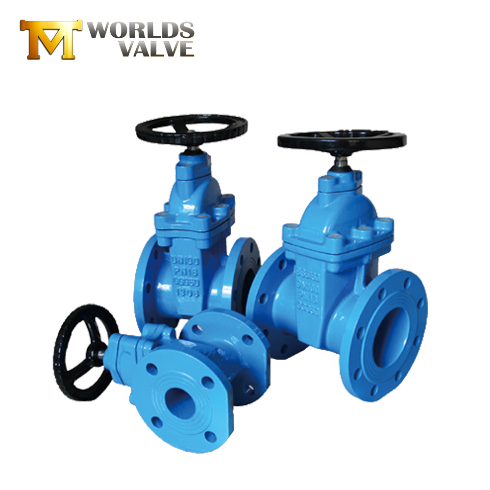 Gietijzeren flexibele wedge hand wiel operated flanged gate valve