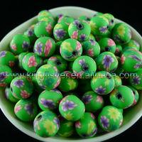 Fashion jewelry clay polymer round beads!! DIY handmade polymer clay ceramic beads!! Stocking!! !!