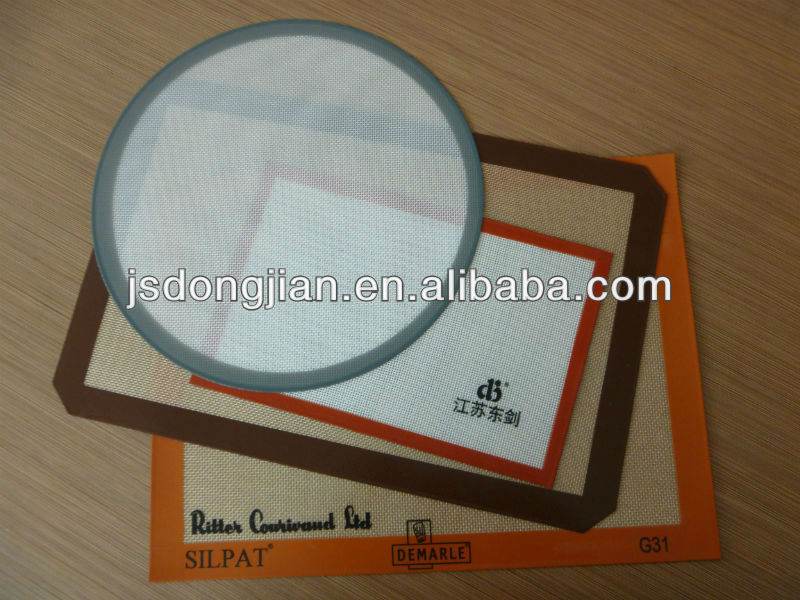 High tempareture resistance round silicone baking mat