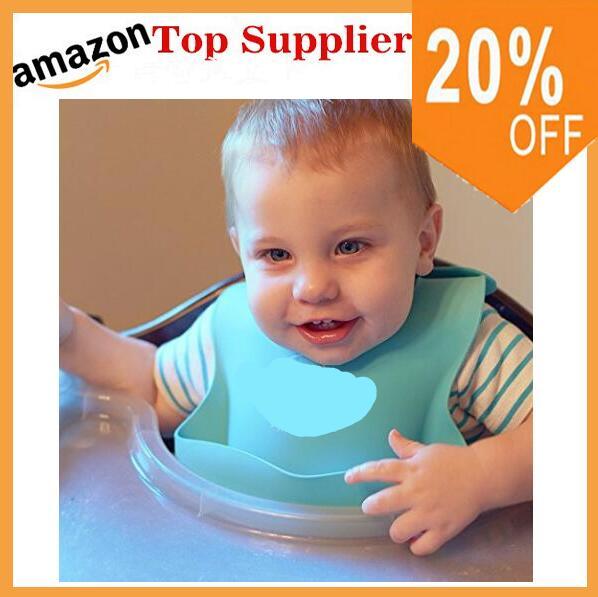 Amazon ขายดีที่สุดเอี๊ยมซิลิโคนกันน้ำเด็กอ่อนด้วยอาหารจับ, ซิลิโคนเอี๊ยมเด็ก