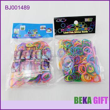 Crazy Loom Kit Diy Wrist Band Rainbow Weaving Loom Cheap Rubber Bands