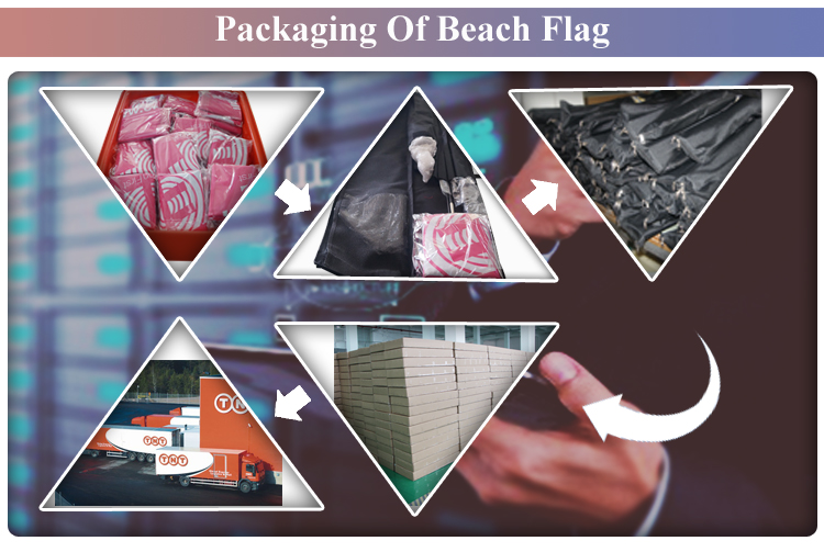 Custom hot sale outdoor Advertising Beach Flag
