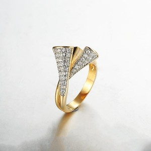 Special fashion design multi strand lucky stone loyalty finger ring
