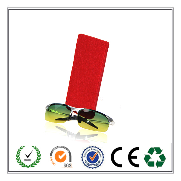 China Wholesale Fancy Fashion Folding Designed Felt Eye Glasses Case